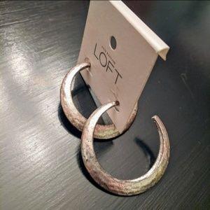 LOFT | NWT Silver Hoop Earrings